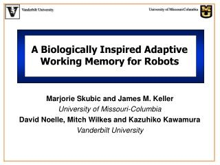 A Biologically Inspired Adaptive Working Memory for Robots