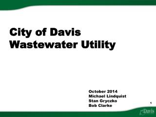 City of Davis Wastewater Utility