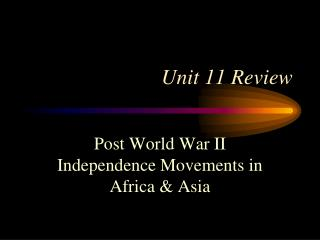 Unit 11 Review