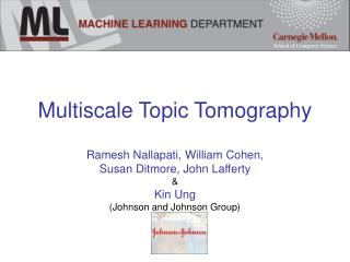 Multiscale Topic Tomography