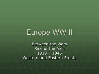 Europe WW II