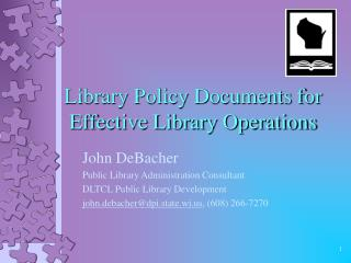 Library Policy Documents for Effective Library Operations