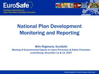 National Plan Development Monitoring and Reporting