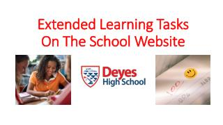 Extended Learning Tasks  On The School Website