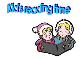 Kid's reading time
