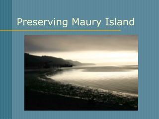 Preserving Maury Island