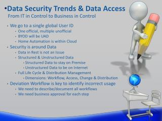 Data Security Trends & Data Access