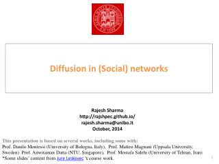 Diffusion in (Social) networks