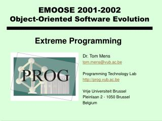 EMOOSE 2001-2002 Object-Oriented Software E volution
