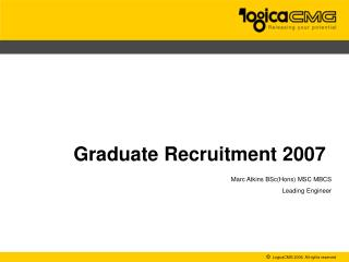 Graduate Recruitment 2007