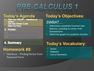 Today�s Objectives :