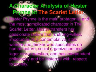 A Character Analysis of Hester Prynne in The Scarlet Letter