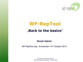 WF-RepTool ' Back to the basics'