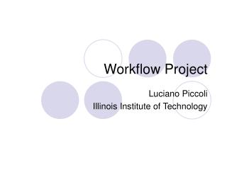 Workflow Project