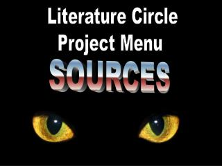 Literature Circle Project Menu