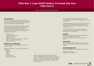 Title line 1 (use Shift+Enter) to break the line Title line 2