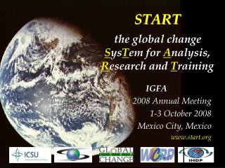 START t the global change S ys T em for  A nalysis,  R esearch and  T raining