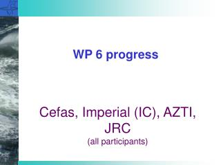 WP 6 progress