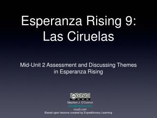Esperanza Rising 9: Las Ciruelas