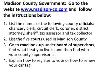 Madison County Government DN