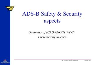 ADS-B Safety & Security aspects