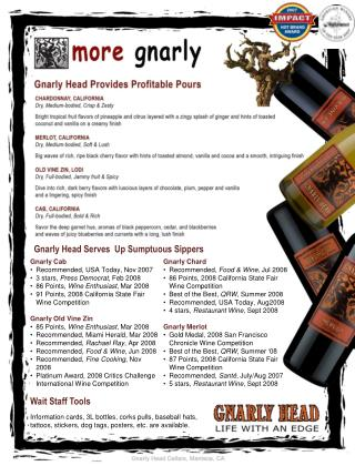 Gnarly Chard Recommended,  Food & Wine , Jul 2008
