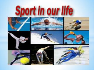 Nowadays, sport is an important thing in the people's life.
