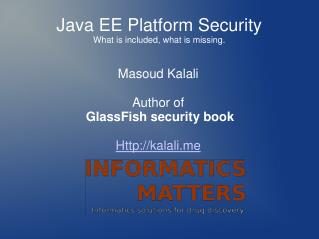 Java EE Platform Security What is included, what is missing.