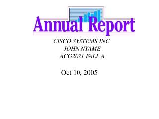 CISCO SYSTEMS INC. JOHN NYAME ACG2021 FALL A