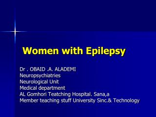 Women with Epilepsy