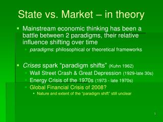 State vs. Market – in theory