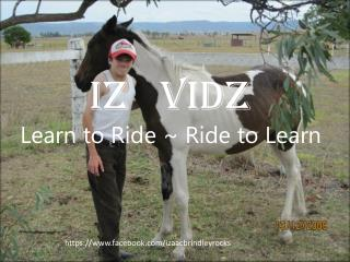 Iz Vidz Learn to Ride ~ Ride to Learn