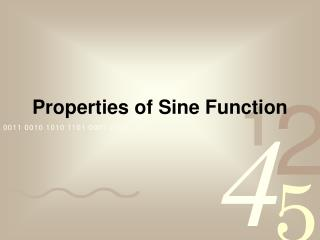 Properties of Sine Function
