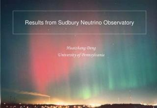 Results from Sudbury Neutrino Observatory