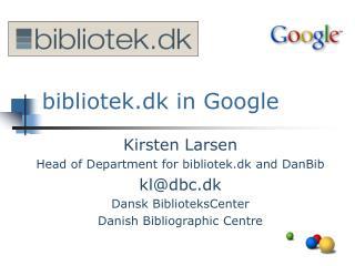 bibliotek.dk in Google