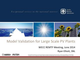 Model Validation for Large Scale PV Plants