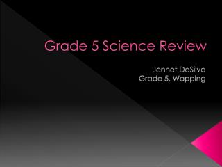 Grade 5 Science Review