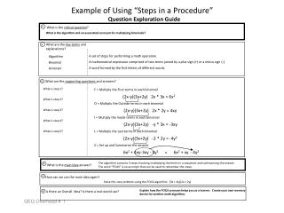 "Example of Using ""Steps in a Procedure"""