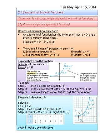 What is an exponential function?