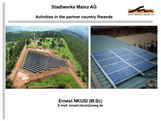 Stadtwerke  Mainz AG Activities in the partner country Rwanda