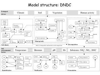 Model structure: DNDC
