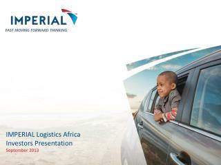 IMPERIAL Logistics Africa Investors Presentation