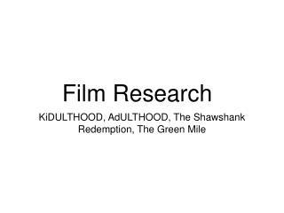 Film Research