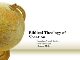Biblical Theology of Vocation
