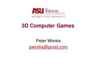3D Computer Games