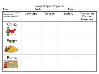 Group Graphic Organizer
