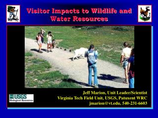 Visitor Impacts to Wildlife and Water Resources