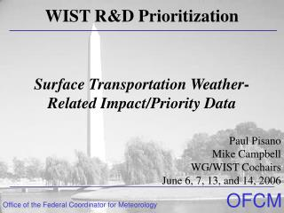 Surface Transportation Weather-Related Impact/Priority Data