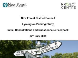 New Forest District Council Lymington Parking Study
