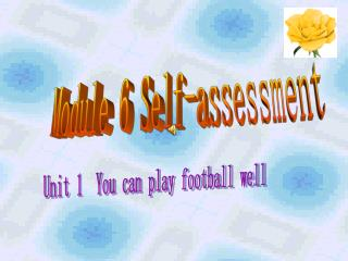 Module 6 Self-assessment